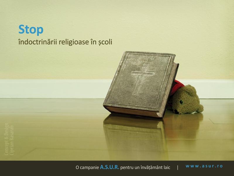 Stop îndoctrinării religioase